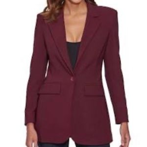 🆕 JustFab Burgundy Long Cut Blazer